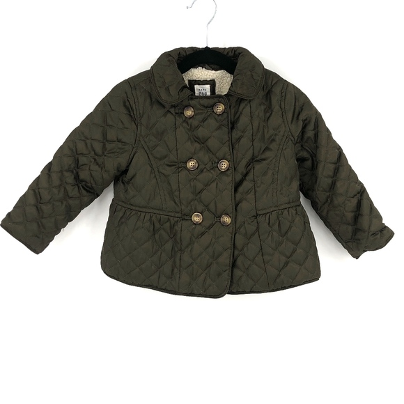 GAP Other - ✨ Baby Gap quilted peacoat sherpa lining coat 3T